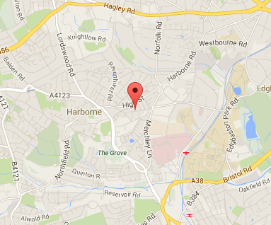 Map of harborne